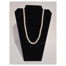 Elegant Single Strand 21 inches Faux Pearls