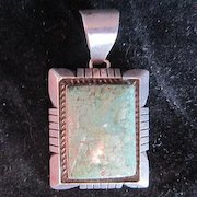 Vintage Green Stone Pendant by E Etsitty