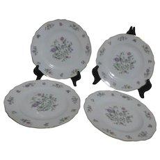 Franconia Krautheim Millefleurs Pattern Set of 4 Salad Plates