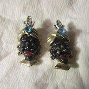 Vintage Pair of Blackamoor Pins