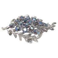 "Silver and ""AB"" Rhinestone Brooch"