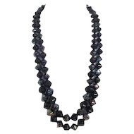 West German Necklace of Faceted Beads
