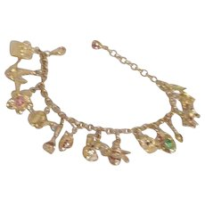Graziano Charm Bracelet with Garden Theme