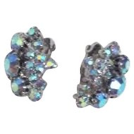 Multicolor Rhinestone Clip-on Earrings