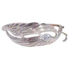 Sterling Silver Bracelet with Elegant Wing Design