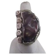 Large Sterling silver ring with Colorful Stone