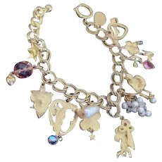 Kirks Folly Goldtone Romantic Charm Bracelet
