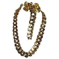 Monet Heavy Goldtone Chain Design Set with Two Pairs of Matching Clip-on Earrings