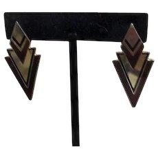 Laurel Burch Geometric Modern Pierced Earrings