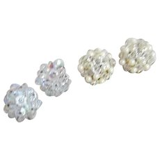 Two Pair of Clip-on Earrings by Laguna