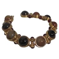 Monet Goldtone Bracelet with Glass Cabochones