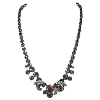 "Weiss ""Black Diamond"" Rhinestone Necklace"