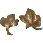 Pair of Goldtone Pins/Brooches