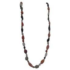 "Multiple Semi-Precious Stones 35"" Necklace"