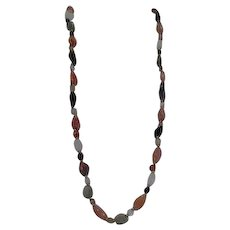 "Multiple Semi-Precious Stones 35"" Necklace"