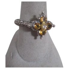 Barbara Bixby Ring Sterling Silver Gold Citrine