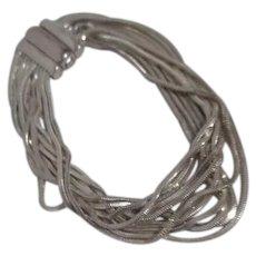 Milor Sterling Silver 10 Strand Mesh Bracelet from Italy