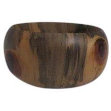 Exotic Wood Solid Bangle Bracelet