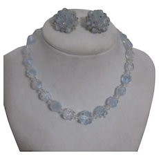 Laguna Beaded Light Blue Necklace and Earring Set