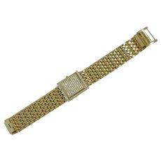 Gruen Flip Gold Tone & Rhinestones Watch Bracelet
