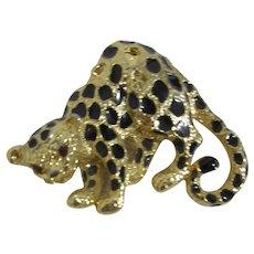 Park Lane Enameled Leopard Brooch/Pendant