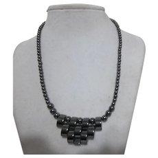Hematite Necklace with Hematite Pendant