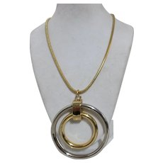 Signed Napier Mod Ring Necklace