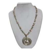 Sigrid Olsen Multi Metal Necklace with Pendant