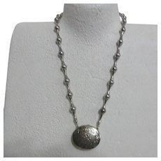 Estee Lauder Solid Super Perfume  Filled Locket on Necklace