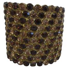 Autumn Colored Rhinestone Cuff Bracelet