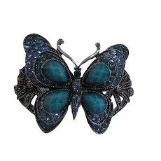 Bright Blue Butterfly Clasp Bracelet