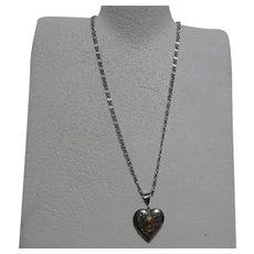 Avon Heart Locket Pendant Necklace