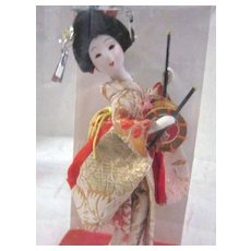 Vintage Small Geisha Doll with Drum
