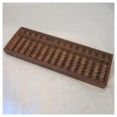 Antique Japanese Wood Soroban (Abacus)