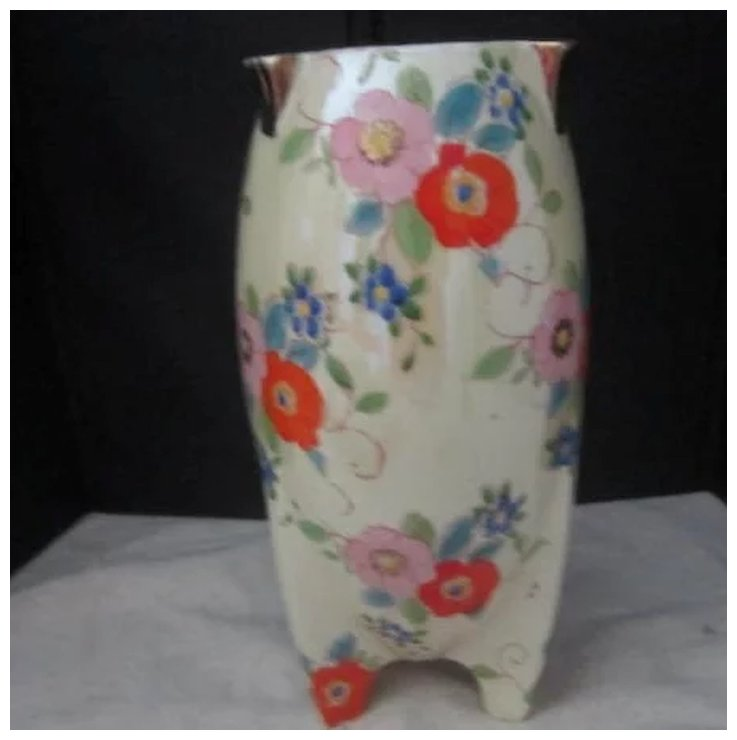 Vintage Hand Painted Japanese Vase By Gold Castle Something