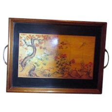 Serving Tray with Oriental Scene