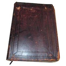 Antique Japanese Complete Christian Bible Leather Bound Gilt Edges Ribbon Bookmarks
