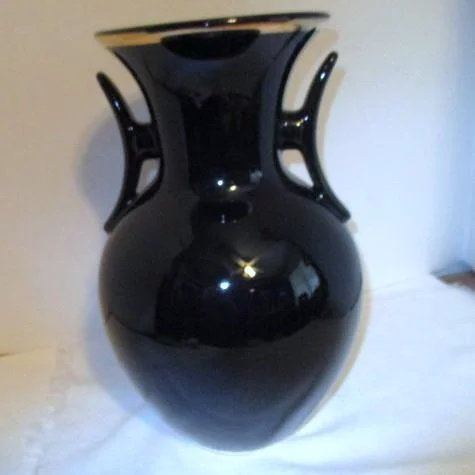Black Japanese Chokin Brass Vase With Stand Choice