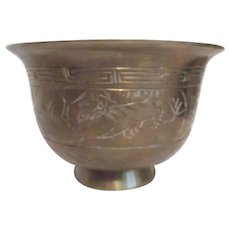 Heavy Brass Etched Bowl from China