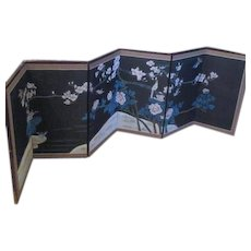 Chinese Folding Screen with Birds, Flowering Branches
