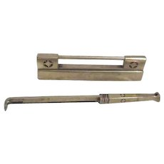Asian Large Brass Lock with Key for Cupboards