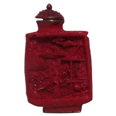 Chinese Cinnabar Snuff Bottle