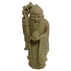 Carved Stone Asian Wise Man