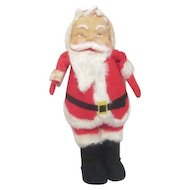 Vintage Happy Soft Santa with Rubber Face