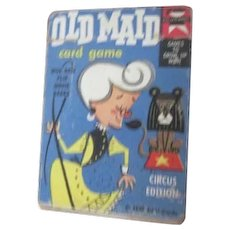 Old Maid Cards Circus Edition Ed-U-Cards 1959 Flip Movie Backs