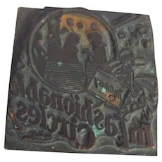 Printer's/typesetter's  Wood Block Stamp with Fashion Designs