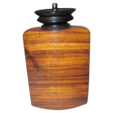 Signed Polished Wooden Perfume Bottle