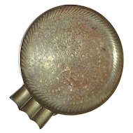 Large Etched Brass Metal Cigar Ashtray from India
