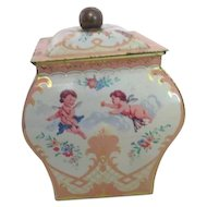 Vintage Decorated Tea Tin Made in Holland