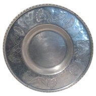 Wrought Aluminum Farberware Tray with Poppy Design